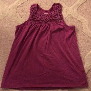Old Navy, XL (14) Maroon knotted tank!